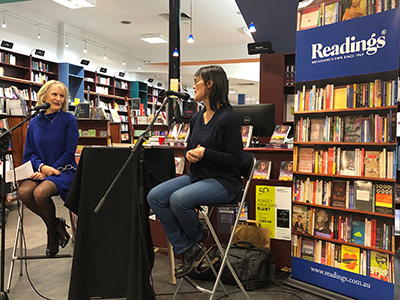 Series creator Lyn White in conversation with author Michelle Aung Thin