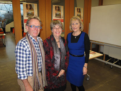 Through My Eyes launch Lyn White with authors Rosanne Hawke and John Heffernan
